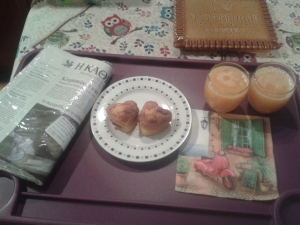 breakfast at bed